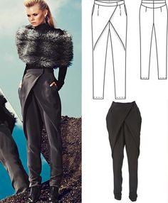 Burda pattern crossover pants