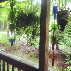 Ecofriendly UpCycled Wine Bottle Rain Chain/ by MartinezCraftWorx