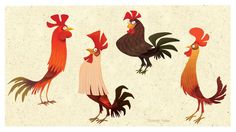 Roosters by shishirnaik on deviantART