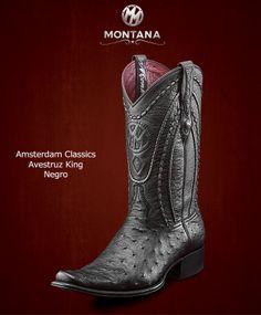 #Montana #Botas #AmsterdamClassics #AvestruzKing #Modelo AM103A1 #Color Negro #MontanaisBack