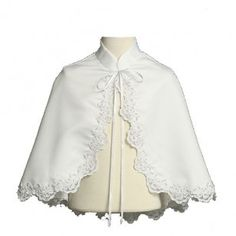 Interesting idea. . . cape for a girl's first communion dress. Capes are cool!