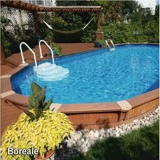 semi inground pools - Google Search