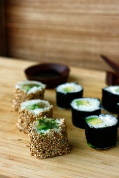 transglobal pan party: SUSHI: CALIFORNIA MAKI & AVOCADO MAKI