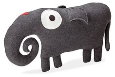 Indy Plush Animal Pillows - Calvin Bedroom in Shell - Kids - Room & Board