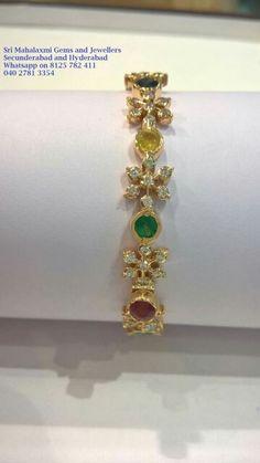 Navarathan Jewelry Design Earrings, Mom Jewelry, Emerald Jewelry, Diamond Jewelry, Jewelery, Jewellery Uk, Indian Wedding Jewelry, Indian Jewelry, Bridal Jewelry