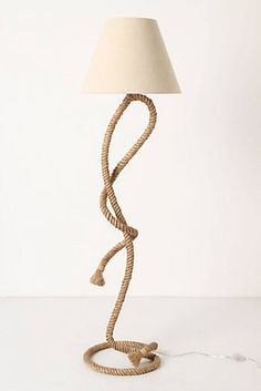 Paused Rope Floor Lamp. This is amazing! Wonder if I could make this.