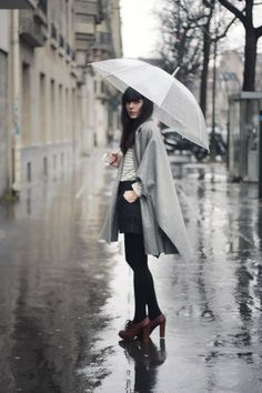 perfect rainy day outfit, Via: Cherry Blossom Girl.