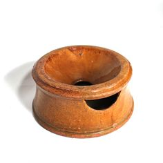 Antique Spitton of Red Stoneware or redware.