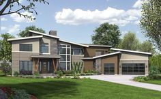 Marvelous 4 Bed Modern With Master On Main - 23627JD | Modern, Northwest, 1st Floor Master Suite, Butler Walk-in Pantry, Den-Office-Library-Study, Jack & Jill Bath, Media-Game-Home Theater | Architectural Designs