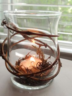 Grapevine Candle Holder~ I wanna try to make this!