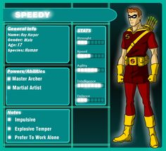 1000 images about Arsenal Speedy Red Arrow on PinterestYoung Justice Season 3 Character Bios