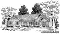Eplans Ranch House Plan - Access to Every Room - 1700 Square Feet and 3 Bedrooms(s) from Eplans - House Plan Code HWEPL03726