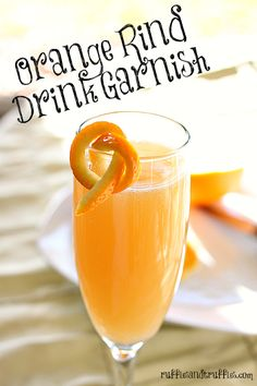 Easy to create orange rind drink garnishes - make your beverages pretty!