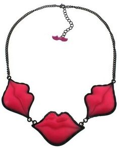 Red Lip Chain Necklace