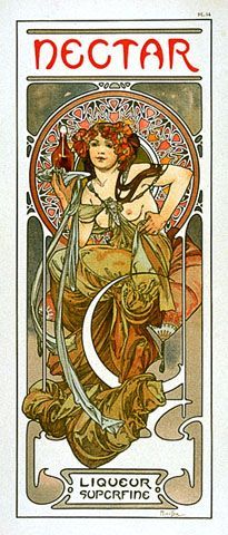 Alphonse Mucha. Nectar Liqueur Superfine