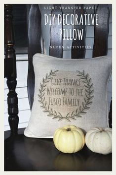 DIY decorative pillow just in time for thanksgiving to really WOW your family and friends. This easy craft only take up to 10 minutes and very affordable!