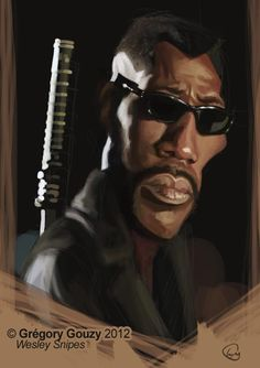 Bookface caricature session : Wesley Snipes