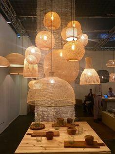 Metal Wall Decor, Metal Wall Art, Bamboo Light, Basket Lighting, Deco Nature, Metal Clock, Workspace Inspiration, Interior Decorating, Interior Design