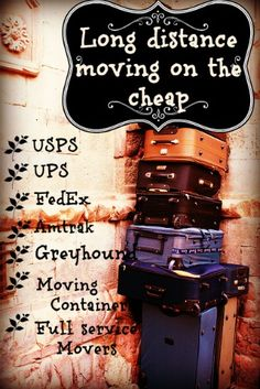 Moving Long Distance on the Cheap - USPS, UPS, & FedEx