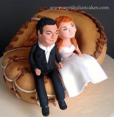 Baseball Wedding Cake by April Julian,