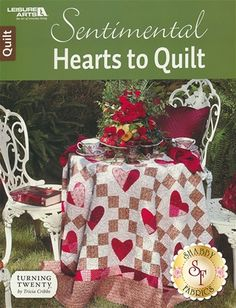 Sentimental Hearts To Quilt Book : Sentimental Hearts To Quilt features two stunning quilts which will add a warm glow to your home! Hand embroidery is used in Garden Hearts and paper-piecing is used in Peace In My Heart. Machine applique and free-motion quilting are also used. The book includes general instructions to complete both quilts.