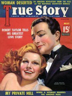 Robert Taylor and Jean Harlow