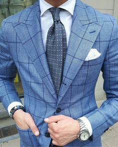 abovetheanklesuk: What a brilliant blazer. Window pane and chalk stripes are my favourite without a doubt.
