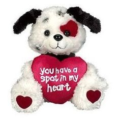"Puppy Dog ""You Have A Spot In My Heart"" Plush Valentine's Day Stuffed Animal Gift - Photo"