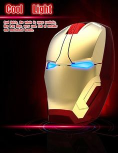 iron man wireless mouse usb 2.4ghz Game Mouse laptop notebook pc  #UnbrandedGeneric
