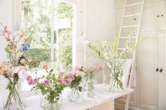 Glazen vazen ter decoratie