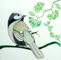 Bird Art / Watercolor ainting / Room Decor / by sublimecolors, $35.00