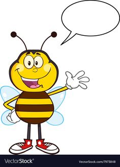 Talking Bumble Bee Cartoon. Download a Free Preview or High Quality Adobe Illustrator Ai, EPS, PDF and High Resolution JPEG versions.