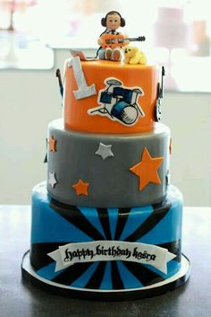 Rockstar Party Amazing Cake For A Birthday Little Rocker Boy
