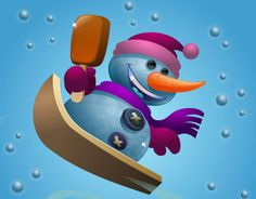 """Check out new work on my @Behance portfolio: """"snowman"""" http://on.be.net/1hlKnQa"""