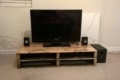 TV stand made from pallets - made by my friend Nathi :-)
