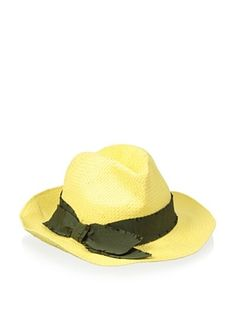 40% OFF Il Cappellaio Women's Casablanca Soft Fedora (Light Yellow/Army)