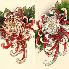 Japanese Tattoo Words, Japanese Flower Tattoo, Japanese Tattoo Symbols, Japanese Tattoo Designs, Japanese Sleeve Tattoos, Japanese Flowers, Japanese Art Styles, Traditional Japanese Tattoos, Japanese Artwork