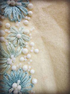 XL Vintage bestickt Perlen Strickjacke Pullover / / von emmevielle