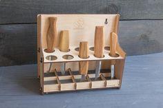 Tool Storage, Storage Rack, Secure Storage, Wood Carving Tools, Carving Knife Set, Chip Carving, Plywood Storage, Tool Rack, Knife Holder