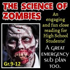 This+one+day+lesson+gives+students+a+chance+to+learn+science+through+the+engaging+theme+of+zombies.++This+also+makes+a+great+sub+plan+for+any+day+of+the+year.+++The+science+topics+explored+are+sure+to+fascinate,+gross+out,+and+engage+your+students.++Click+the+PREVIEW+for+a+better+look+at+the+resources.