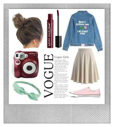 """""""Polaroid"""" by loveisthename ❤ liked on Polyvore featuring Polaroid, NYX, Chicwish, Converse and Forever 21"""