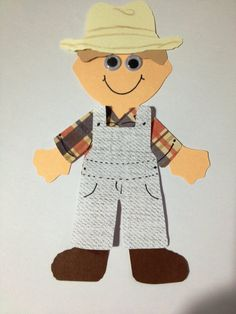 Farmer Craft For Preschoolers Make Your Own Farmer Zoo Crafts, Farm Animal Crafts, Farm Animals, Kindergarten Crafts, Preschool Crafts, Preschool Teachers, Preschool Education, Preschool Learning, Farmer Craft