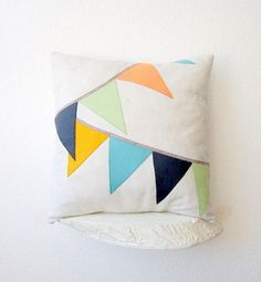 pennant pillow cover by hometoroost on Etsy, $30.00