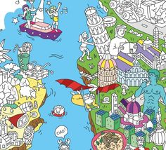Italy - Poster coloriage