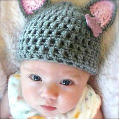 Miss Kitty Baby Girl Hat #Melondipity