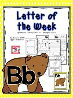 """This letter of the week pack is designed to help you teach the """"letter B."""" Included are worksheets and printables to focus on the """"letter b"""" all we. Preschool Letter B, Letter B Activities, Alphabet Letter Crafts, Preschool Learning, Early Learning, Preschool Activities, Preschool Literacy, Preschool Printables, Kindergarten Centers"""