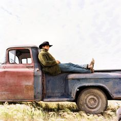 Jack Twist and his pick-up truck.