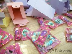 Dextrose candies inside cake boxes... Or any other toy or treat