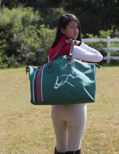 Weekender Tote Bag, Gym Bag, Shopping Bag, Equestrian Tote Bag, Horse Bag, Horse Show Bag,