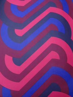 vintage wallpaper  geometric stripes  per half yard by thriftypyg, $7.00